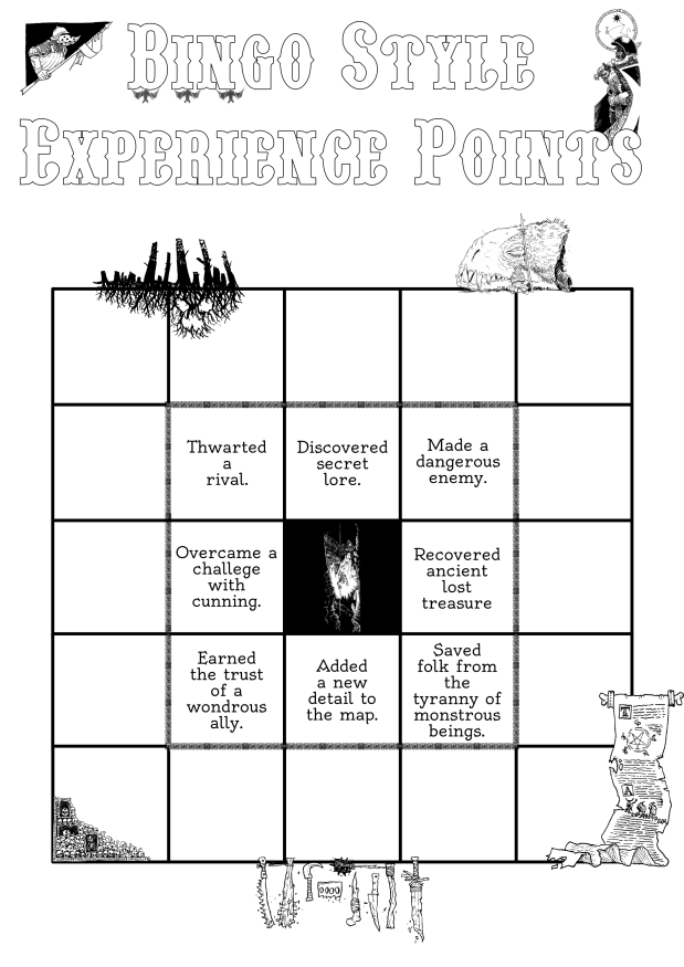 Bingo Style Experience Points after a few months of levelingup
